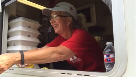 Vicki Lee of Renton, Washington, joined by her husband Bill, traveled to South Carolina to pitch in for flood relief.
