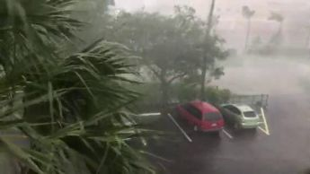September 10, 2017. Fort Myers, Florida Images of wind and rain from Hurricane Irma.