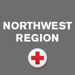 Northwest Region with image of red cross in a white circle