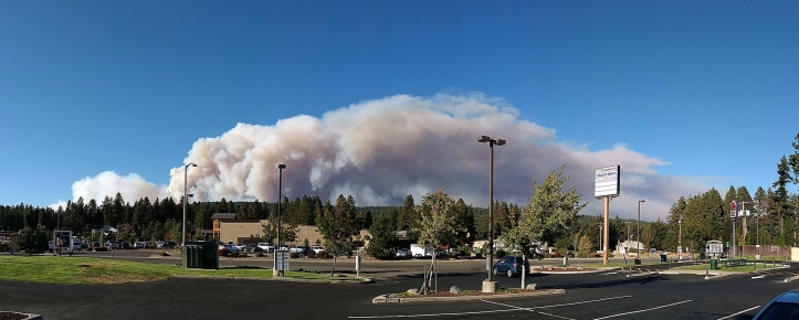 Smoke from the Jolly Mountain fire in 2017